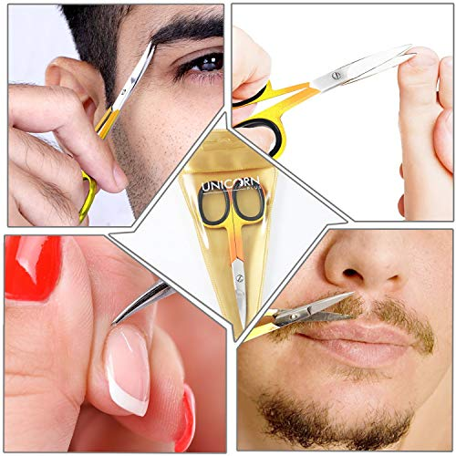 Nail Scissors Professional Cuticle Scissors Extra Strong Curved Manicure Scissors