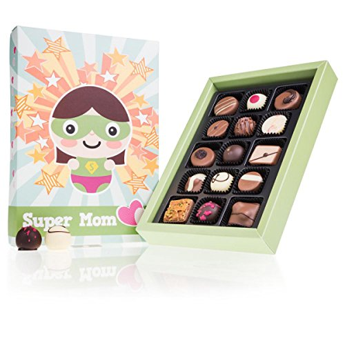 Super Mom Deluxe - 15 Chocolates | Idea de regalo | cumpleaños | Chocolate | Bombones | Dia de la madre | Mama | Mamá | día de la madre | Praliné | sabores | Navidad | Dulces navideños