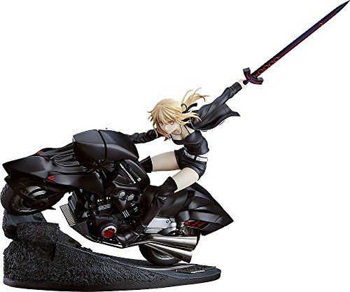 G Fate/Grand Order - Saber/Altria Pendragon (Alter) and Cuirassier Noir Bike, 1/8 Scale, ABS&PVC Pre-Painted Complete Figurine