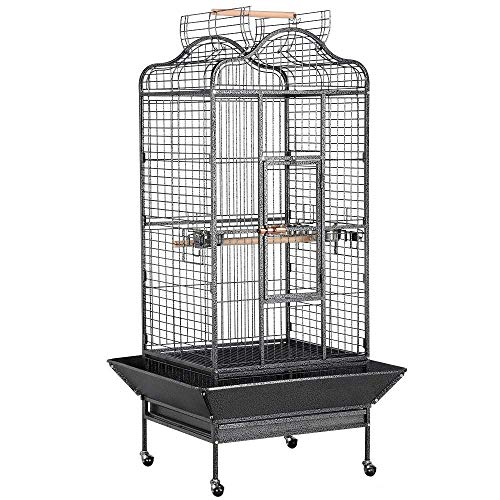 Yaheetech Extra Large Rolling Metal Bird Cage Parrot Cage for African Grey...
