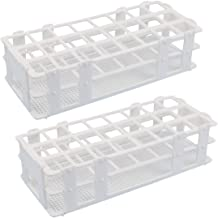 Plastic Test Tube Rack - Buytra 2 Pack 24 Holes Lab Test Tube Rack Holder for 25mm Test Tubes, Detachable, White