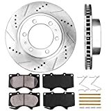 Callahan CDS02017 FRONT 319 mm Premium D/S 6 Lug [2] Brake Disc Rotors + [4] Ceramic Brake Pads + Hardware [fit Toyota]