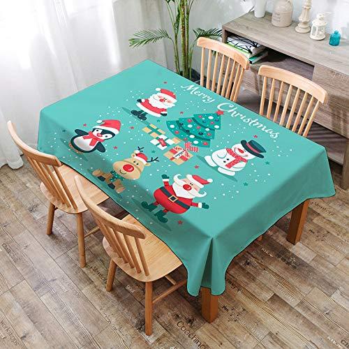 Mantel De Navidad Mantel De Poliéster Impermeable Moderno Moderno Simple Mantel Rectangular Impreso De Moda,V-100 * 140cm