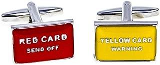MRCUFF Soccer Red Card Yellow Card Pair Cufflinks in Presentation Gift Box & Polishing Cloth