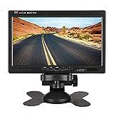 7 inch Car Monitor HUINETUL 12V 24V HD TFT Color LCD Backup Car Display Screen Monitor for Car Truck Caravan Camera/DVD/Satellite Receiver 1024x600p Fit AHD/NTSC/PAL