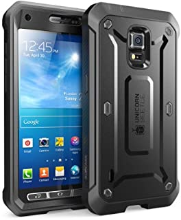 Samsung Galaxy S5 Active Case, SUPCASE Unicorn Beetle PRO Series Full-body Rugged Hybrid Case with Built-in Screen Protector for Galaxy S5 Active (SM-G870A Water and Shock Resistant Version Smartphone), Black/Black [Not Fit Samsung Galaxy S5 Regular by SUPCASE [並行輸入品]