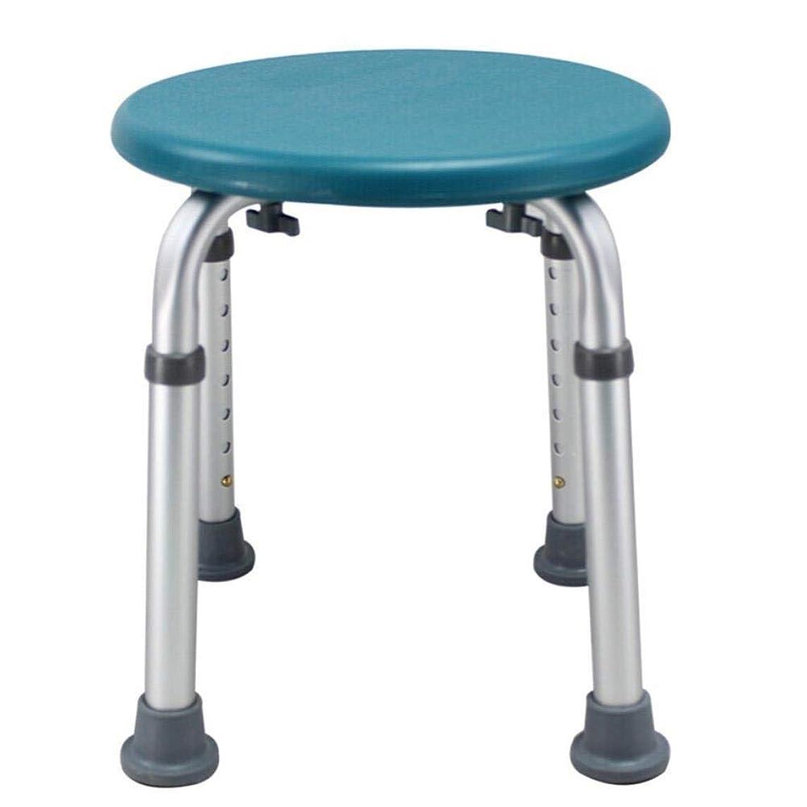 気づかないフライカイトストリップラウンドバスシートまたはシャワースツール、調整可能な高さのバスシートベンチ高齢者用入浴補助 (Color : 緑)