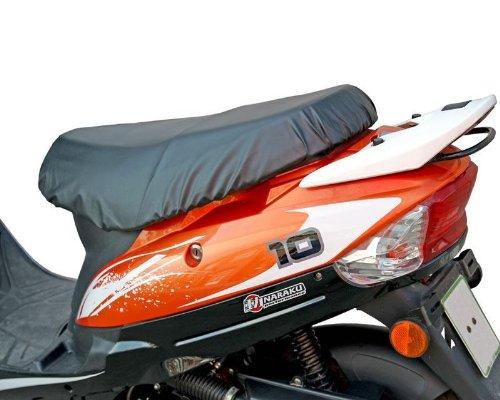 Housse de siège Roller Amovible – étanche Noir pour Baotian QT9, Jinlun Fighter 50 & la Chine Roller avec Courte Banc