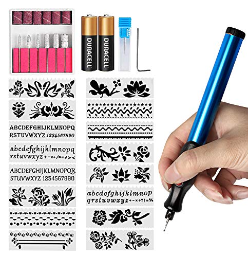 FOLAI DIY Pen Electric Engraving Tools for Jewellery Making,Metal, Glass with Replaceable Diamond Tip Bits,