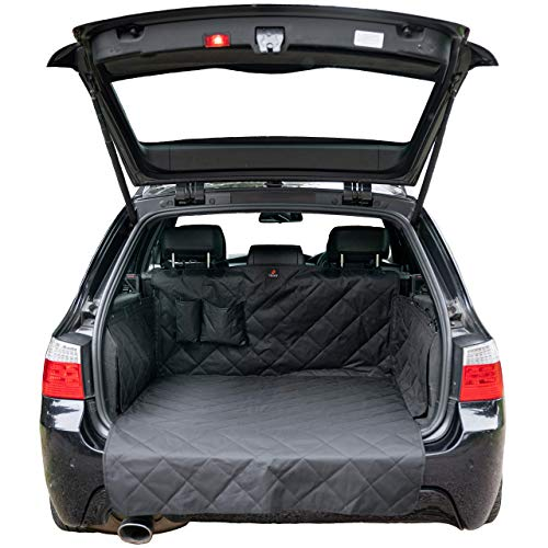 Foxxer Premium 4 Layer, Non Slip Car Boot Liner for Dogs with Bumper Flap - Car Boot Protector for Dog - Universal Waterproof Car Boot Cover - Car Boot Mat fits Cars, 4x4, Estate, Hatchback, SUV.