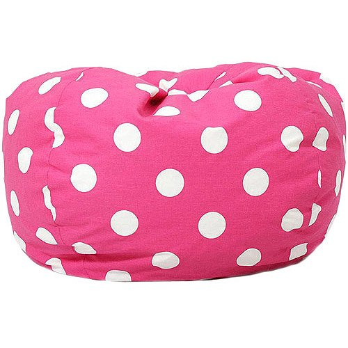 Classic Garbadine Bean Bag, Polka Dots - Candy Pink