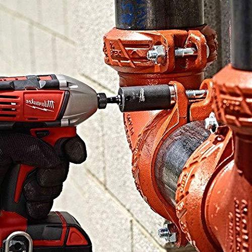Milwaukee 48-32-5033 Power Drill Bit Extensions Shockwave Socket Adapter Set, 1/4