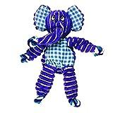 KONG - Floppy Knots Elephant - Corde intérieure nouée et rembourrage minimal - Moyens/grands chiens