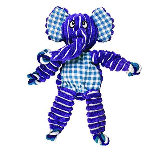 KONG – Floppy Knots Elephant – Innere Geknotete Seile und Minimale Füllung für Weniger Unordnung – Für Mittelgroße/Große Hunde
