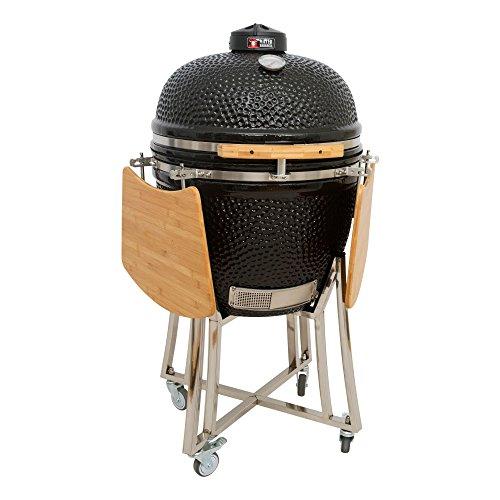 Mayer Barbecue Brenna Keramik-Grill Kamado Grill MK-23, Holzkohlegrill mit Deckel, 23