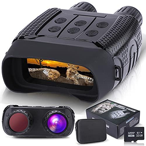 """Binoculares Visión Nocturna, Prismáticos gafas Infrarrojos Digital Visión Nocturna con 2,31"""" LCD TFT para la Caza, Cámara fotográfica HD de 1280x960p Grabadora de video con Tarjeta de Memoria de 32G"""