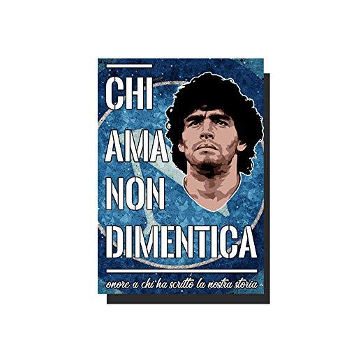 Generico Poster Maradona Napoli Chi AMA Non DIMENTICA
