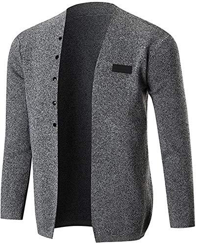 Latoshachase Men's Hoodies, Slim Fit Long Sleeve Solid Knitting Blouse Tops Coat Outwear
