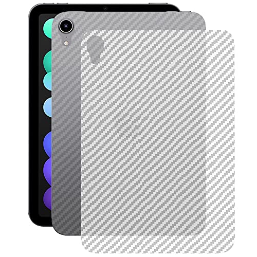 Miimall kompatibel mit iPad Mini 6 Rückseite Schutzfolie, [Carbon Muster] Flexibel Superdünn Kratzfest Anti Fingerabdruck Rückseite Folie für iPad Mini 6. Generation 2021