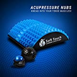 Soft Touch Back Stretcher - Back Pain Relief - Sciatica Pain Relief - Posture Corrector - Spinal Stenosis Pain Relief - Neck Pain Relief - Two Massage Balls for Back Pain Included!! !