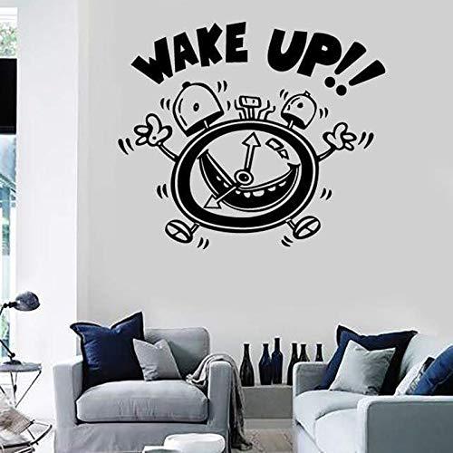 jiushivr Wandaufkleber Wake Up Wecker Decor für Schlafzimmer Kinderzimmer Vinyl Aufkleber Removbale...