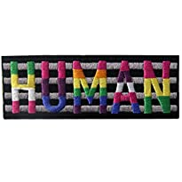 ZEGIN Aufnäher Motiv LGBT Human 9,5 x 3,6 cm