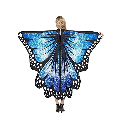 Disfraces de mariposa de Halloween para adultos, 3 piezas, juego de disfraces para cosplay, Cielo estrellado azul, Talla única