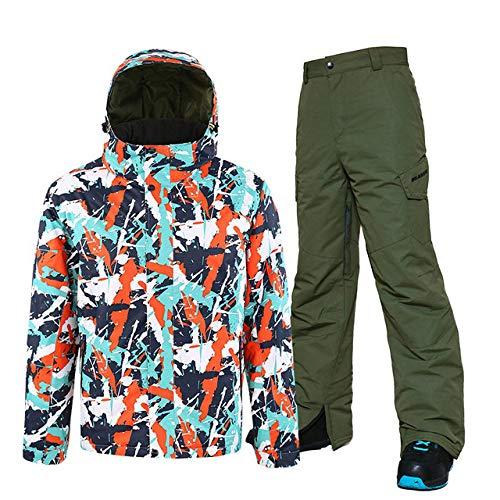 BNJDBNJD Outdoor-Skianzug Skianzug Herren Skijackhose, Snowboard-Sets Wasserdichter Mountain-Skianzug Winter-Outdoor-Sportbekleidung für Männer, Farbe 4, M.