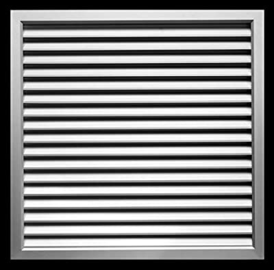 """Aluminum Privacy Door HVAC Air Grille -""""V"""" Shaped Louvers Ensure 100% View Block - Supply or Return"""