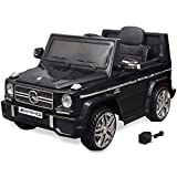 vidaXL Kinderauto 2 Motoren 2x15W Schwarz Kinder Elektroauto Kinderfahrzeug