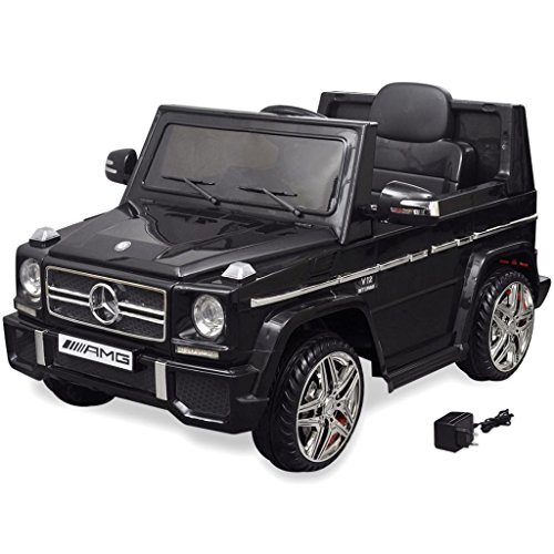 vidaXL Kinderauto 2 Motoren 2x15W Schwarz Kinder Elektroauto Kinderfahrzeug*
