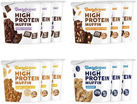 Bootylicious High Protein Muffin 25g Protein 7g Net Carbs 1 86 1 76oz Cup Gluten Free 12 Pack product image