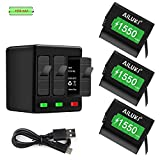 AILUKI GoPro Hero 5/6/7 1550mah Replacement Batteries (3-Pack) and 3-Channel Charger for GoPro Hero 7 Black,Hero 6 Black, Hero 5 Black,Hero 2018 (Fully Compatible with Original Camera)