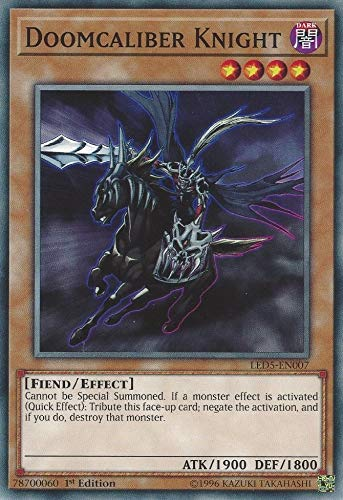 Yu-Gi-Oh! - Doomcaliber Knight - LED5-EN007 - Common - 1st Edition - Legendary Duelists: Immortal Destiny