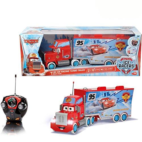 Disney Cars RC ICE Racing Turbo Mack Truck, 3-canal de mando a...