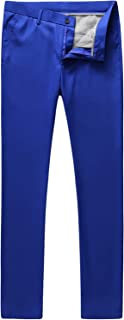 Mens Slim Fit Front Flat Casual Pants