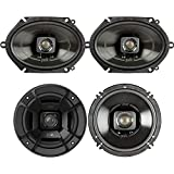 Polk Audio - A Pair of DB652 6.5' Coaxial and A Pair of DB572 5x7 Speakers - Bundle Includes 2 Pair