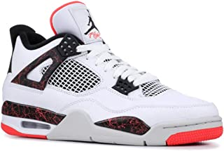 Nike Men's Air Jordan 4 Retro White/Black-Bright Crimson 308497-116 (Size: 8.5)
