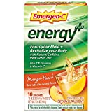 Includes 18 single-serving packets (033 oz each) of Emergen-C Energy+ in Mango-Peach flavor Focus your mind and revitalize your body with Natural Caffeine from Green Tea* This power-packed formula has immune-supporting Vitamin C to help support your ...