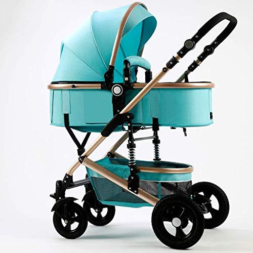MNBV Cochecito de bebé, Cochecito de muñecas de Lujo  Cochecito para muñecas con Bolsa de Transporte, Cochecito de conveniencia (Color: Verde Agua)