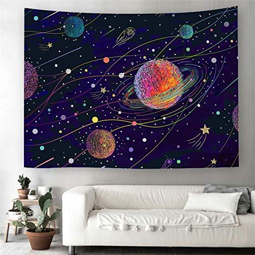 WERT Galaxy Universe Tapiz para Colgar en la Pared Impreso en 3D para decoración del hogar Manta de Alfombra de Yoga Alfombra Hippie Decoración de Tela A4 200x150cm