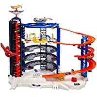 Hot Wheels Super Ultimate Garage Playset with 4 Cars and 1 Jet