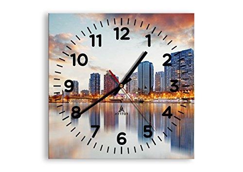 ARTTOR Reloj Cocina - Decoración Pared - Reloj Salon y a Otras Habitaciones - Relojes pequeños y Grandes - Gráficos Modernos - C4AC30x30-2831