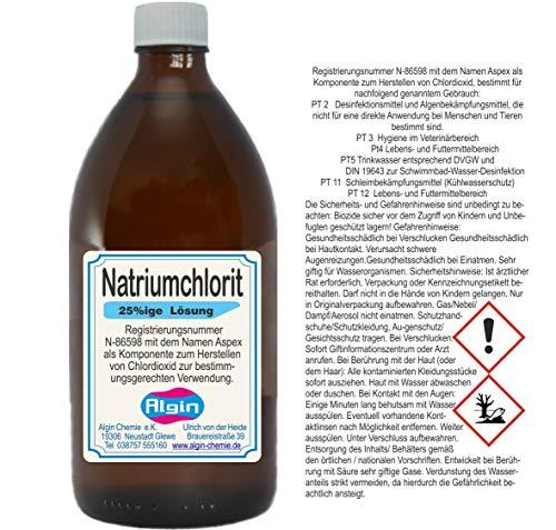 Natriumchlorit 25% Aspex 500ml Braunglasflasche