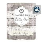Wanders24®️ Kreidefarbe (750 ml, historisches Hellgrau) Holzfarbe für Shabby Chic Look -...
