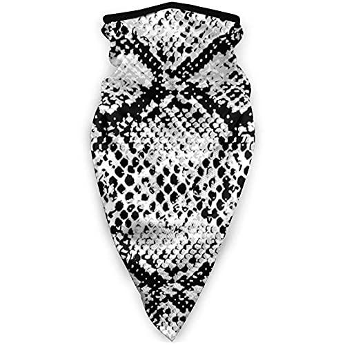 asdew987 Piel de serpiente a prueba de viento deportes al aire libre máscara de trabajo como máscara de sol cuello polaina para hombres y mujeres