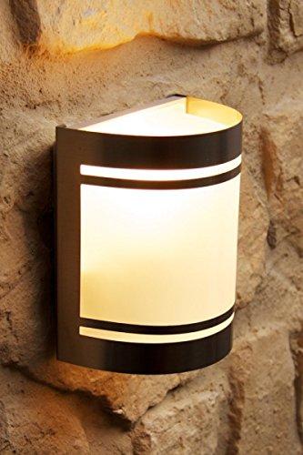 Lampada da parete IP44 Acciaio Inox con vetro satinato illuminazione esterni