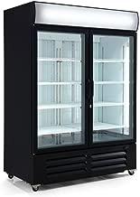 """54 1/8"""" Double Door Ice Cream Upright Merchandiser Freezer 48 Cu.ft."""