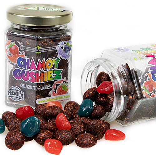 Premium Chili Coated Fruity Gushies | Gummy Chamoy...