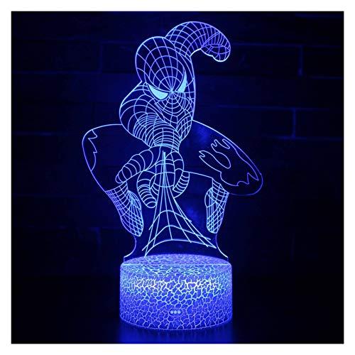 WEIJIAMY Luz de Nocturna Lámpara 3D LED Creativa 3D LED Luces de Noche Decora el Dormitorio (Emitting Color : Changeable)